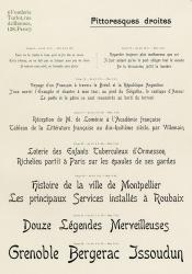 Pittoresques Turlot, Exemple, Pittoresques Turlot, n° 1