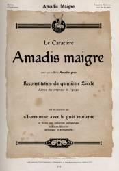 Amadis, Exemple, Amadis, n° 3