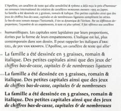Apolline, Exemple, Apolline, n° 3
