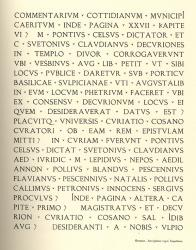 Latin Épigraphique, Exemple, Latin Épigraphique, n° 1