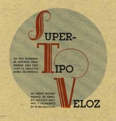 Super Tipo Veloz, Exemple - Super Tipo Veloz - N°1