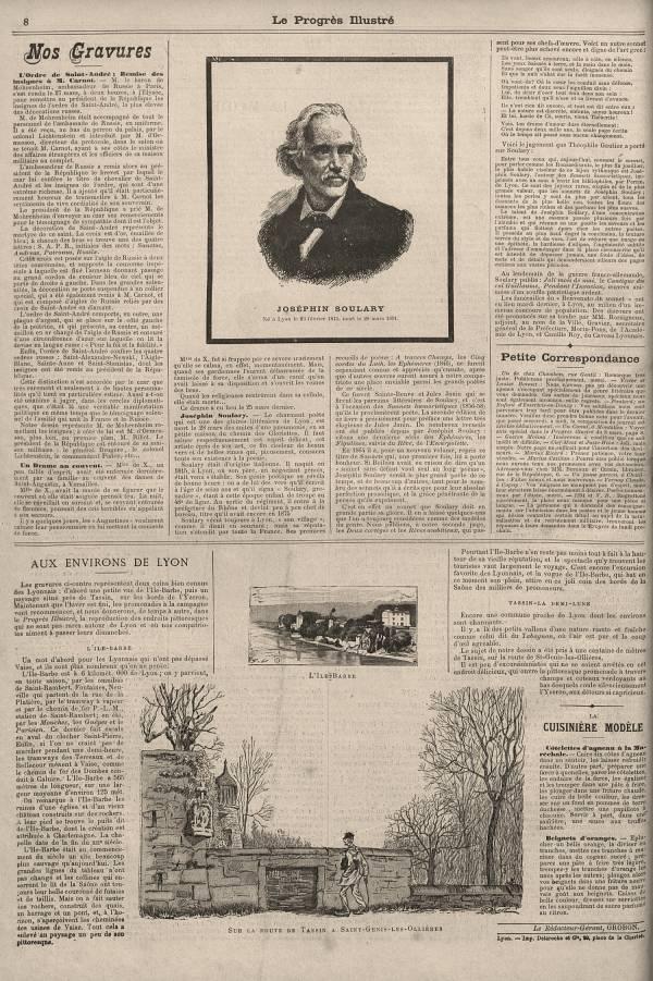Joséphin Soulary,  né à Lyon le 23 février 1815, mort le 28 mars 1891.