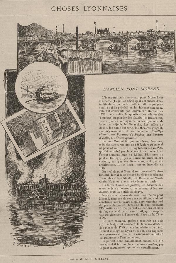 L'ancien pont Morand : choses lyonnaises