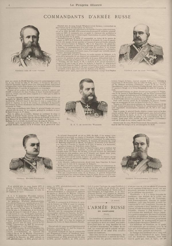Commandants d'armée russe