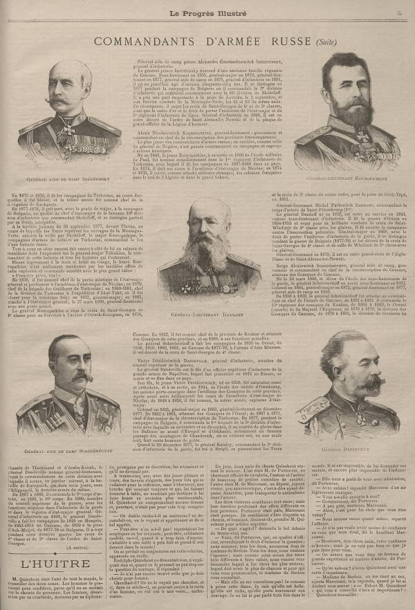 Commandants d'armée russe (suite)