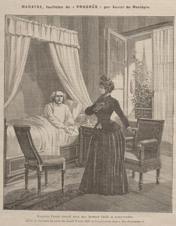 Marâtre, feuilleton du Progrès par Xavier de Montépin