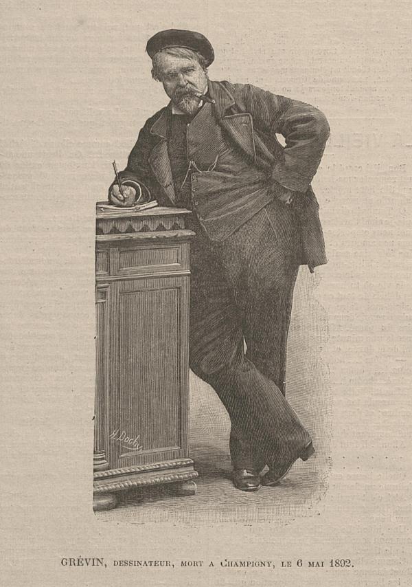 Grévin, dessinateur, mort à Champigny le 6 mai 1892