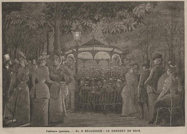 A Bellecour, le concert du soir : tableaux lyonnais