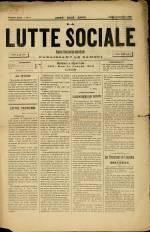 LA LUTTE SOCIALE, Première Année - N°2