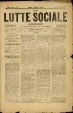 LA LUTTE SOCIALE, Première Année - N°5