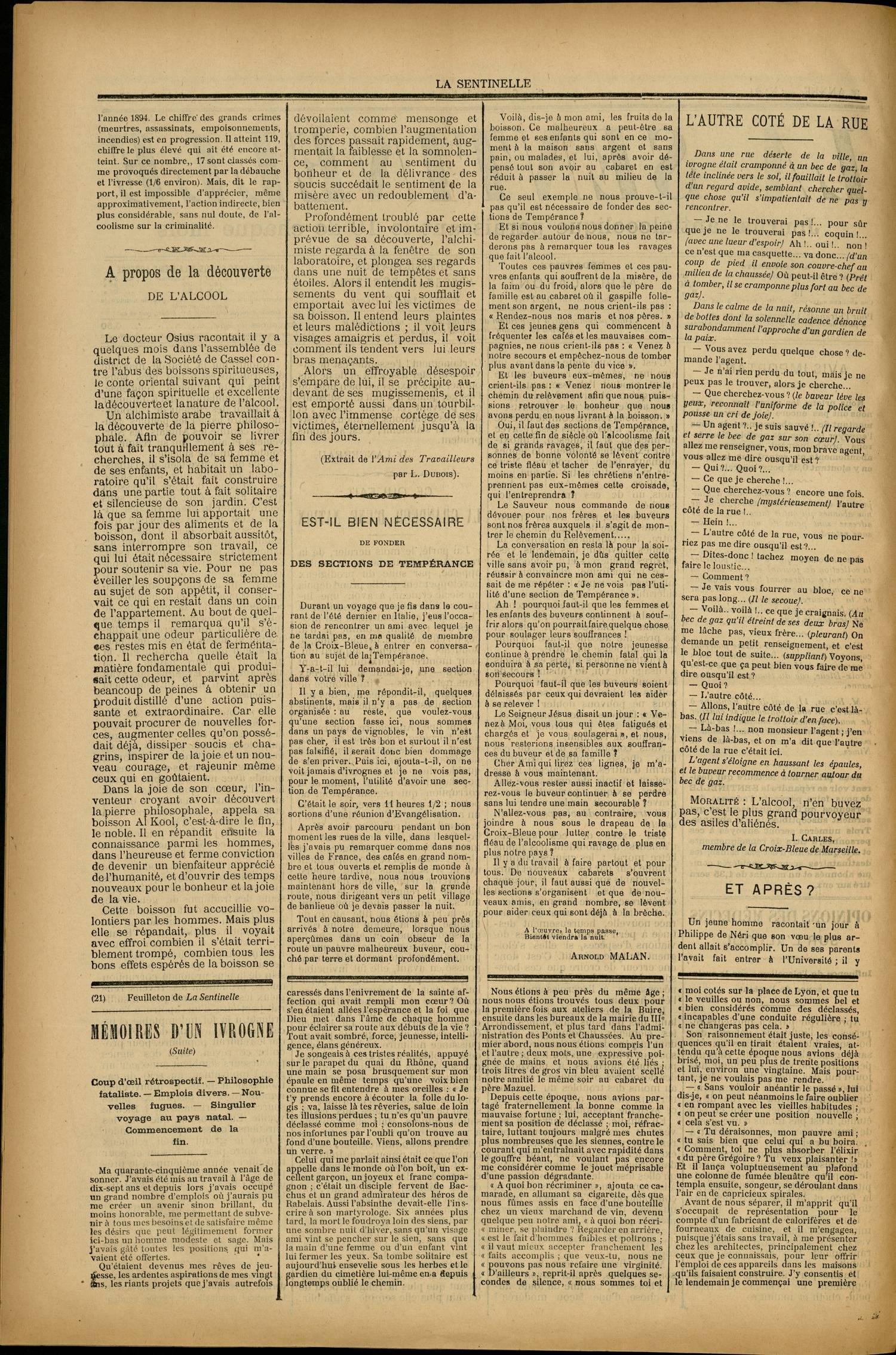 Contenu textuel de l'image : A propos de la découverte