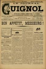 LE JOURNAL DE GUIGNOL, Vingt-Neuvième Année - N°38