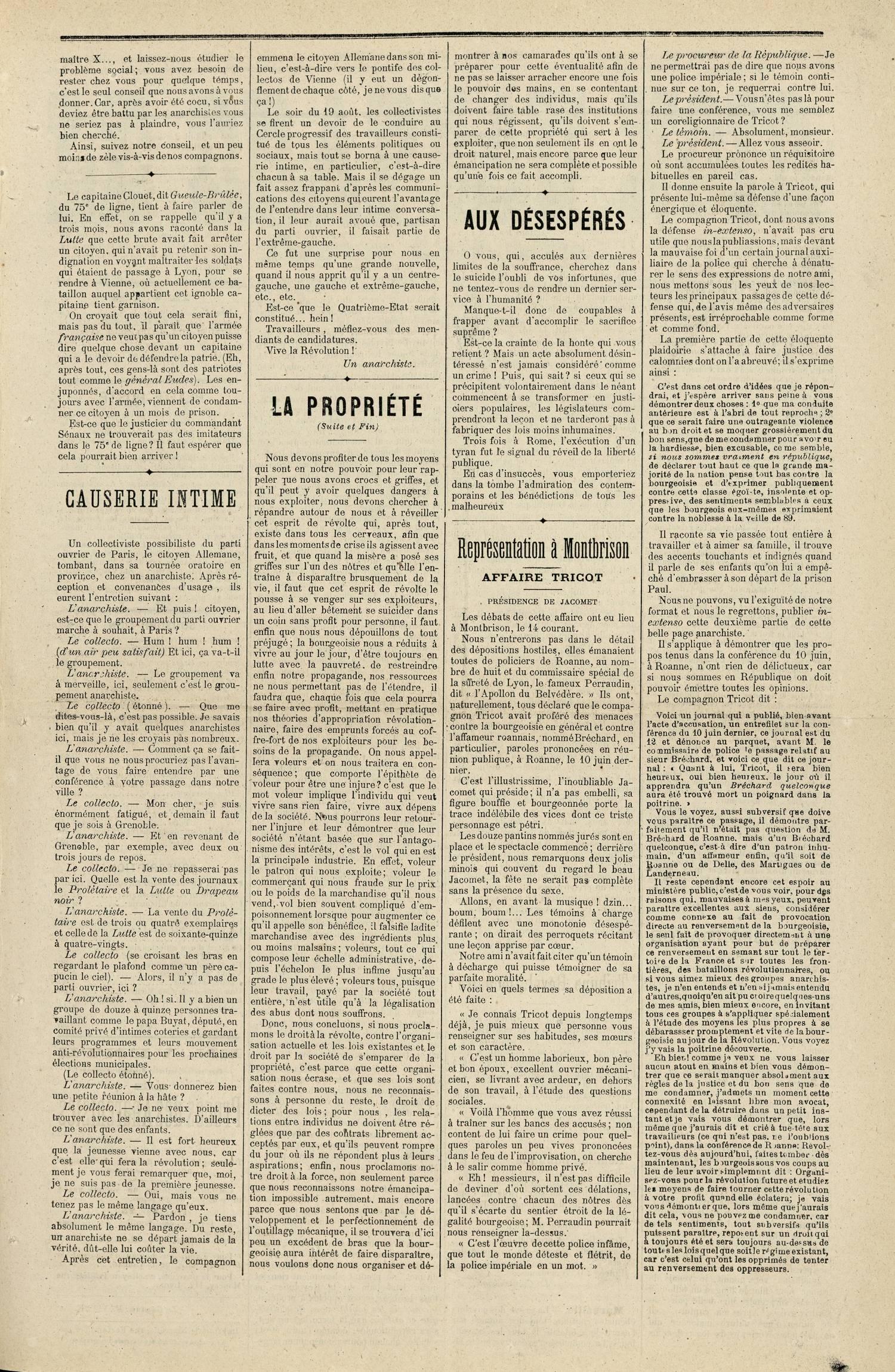 Contenu textuel de l'image : AUX DÉSESPÉRÉS