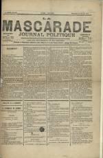 LA MASCARADE, Troisième Année - N°103