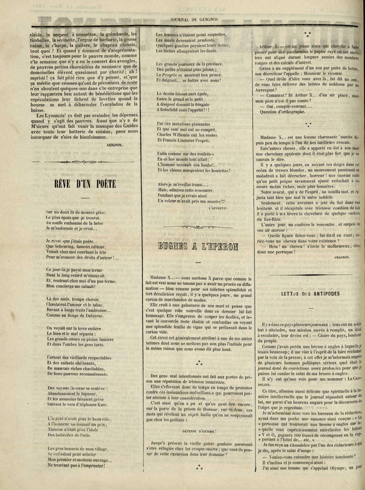 Contenu textuel de l'image : BUGNES A L'EPERON