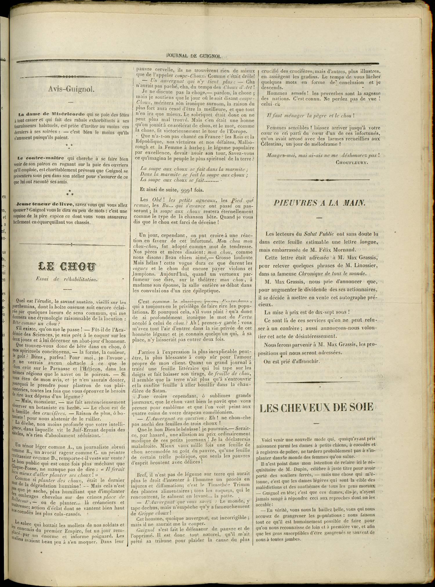Contenu textuel de l'image : LES CHEVEUX DE SOIE
