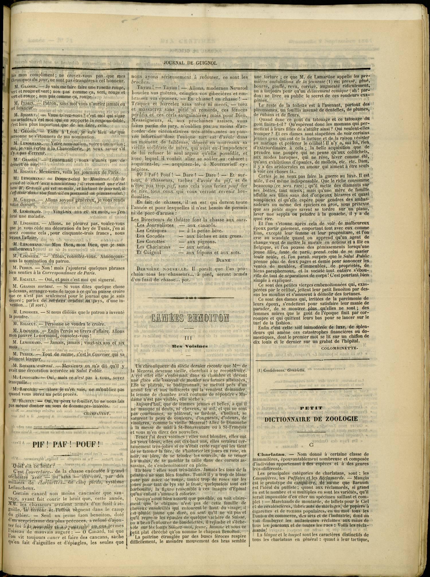 Contenu textuel de l'image : CAMEES BENOITON