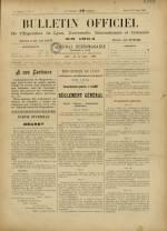 BULLETIN OFFICIEL DE L'EXPOSITION DE LYON, Première Année - N°1