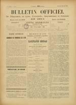 BULLETIN OFFICIEL DE L'EXPOSITION DE LYON, Première Année - N°2