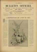 BULLETIN OFFICIEL DE L'EXPOSITION DE LYON, Première Année - N°3