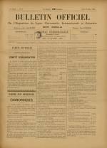 BULLETIN OFFICIEL DE L'EXPOSITION DE LYON, Première Année - N°6