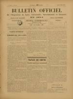 BULLETIN OFFICIEL DE L'EXPOSITION DE LYON, Première Année - N°15