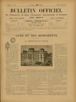 BULLETIN OFFICIEL DE L'EXPOSITION DE LYON, Première Année - N°18