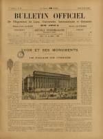 BULLETIN OFFICIEL DE L'EXPOSITION DE LYON, Première Année - N°19
