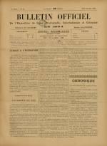 BULLETIN OFFICIEL DE L'EXPOSITION DE LYON, Première Année - N°23