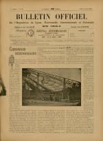 BULLETIN OFFICIEL DE L'EXPOSITION DE LYON, Première Année - N°26