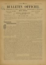 BULLETIN OFFICIEL DE L'EXPOSITION DE LYON, Deuxième Année - N°2