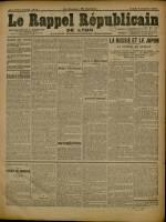 Le Rappel Républicain de Lyon, Deuxième Année - N°4