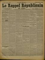 Le Rappel Républicain de Lyon, Deuxième Année - N°5