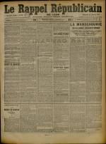 Le Rappel Républicain de Lyon, Deuxième Année - N°31