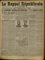 Le Rappel Républicain de Lyon, Deuxième Année - N°41