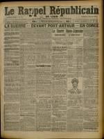 Le Rappel Républicain de Lyon, Deuxième Année - N°43