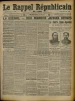 Le Rappel Républicain de Lyon, Deuxième Année - N°44