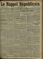Le Rappel Républicain de Lyon, Deuxième Année - N°314