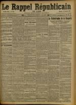 Le Rappel Républicain de Lyon, Deuxième Année - N°358