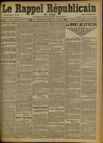 Le Rappel Républicain de Lyon, Deuxième Année - N°364