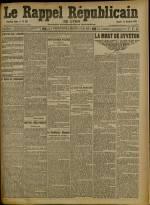 Le Rappel Républicain de Lyon, Deuxième Année - N°366