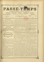 LE PASSE-TEMPS, Dix-Huitième Année - N°3