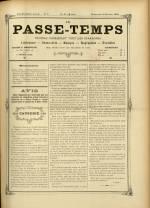 LE PASSE-TEMPS, Dix-Huitième Année - N°5