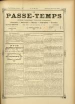 LE PASSE-TEMPS, Dix-Huitième Année - N°7