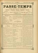 LE PASSE-TEMPS, Vingt-deuxième Année - N°17