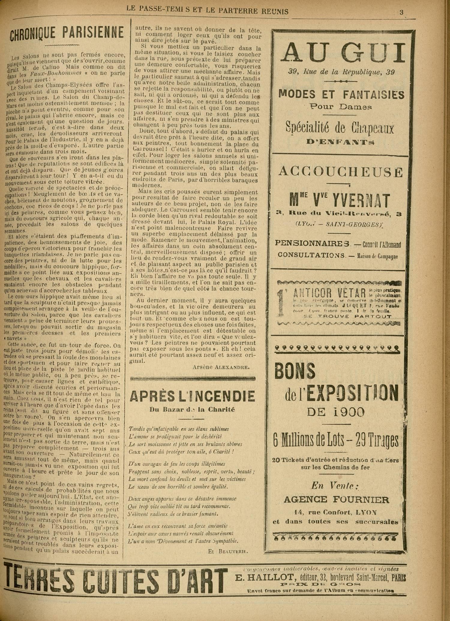 Contenu textuel de l'image : APRÈS L'INCENDIE