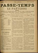 LE PASSE-TEMPS ET LE PARTERRE RÉUNIS, Vingt-cinquième Année - N°32, pp. 1