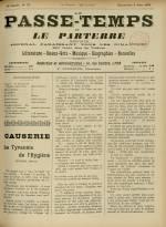 LE PASSE-TEMPS ET LE PARTERRE RÉUNIS, Trente-troisième Année - N°23