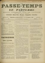 LE PASSE-TEMPS ET LE PARTERRE RÉUNIS, Trente-troisième Année - N°24