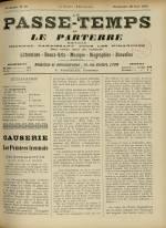 LE PASSE-TEMPS ET LE PARTERRE RÉUNIS, Trente-troisième Année - N°25